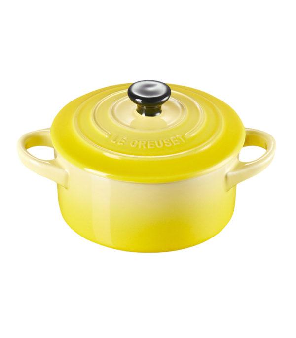 Mini Cocotte Redonda 10cm amarillo Soleil Le Creuset